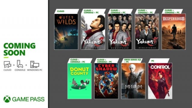 Скоро в Xbox Game Pass: The Medium, Yakuza 3, 4, 5 Remastered и другое